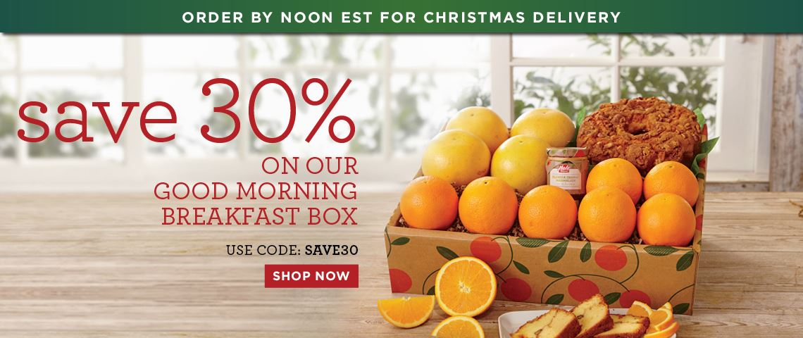 Slide - Save 30% on the Good morning Breakfast Box