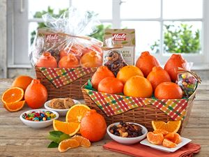 Orchard Plaid Basket Box with Honeybells