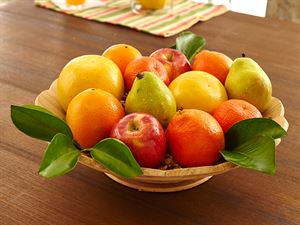 Wooden Fruit Bowl with Honeybells