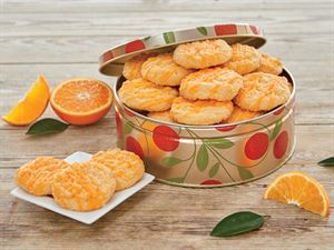 Orange Cookies in tin