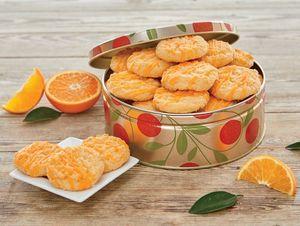 Orange Cookies in tin