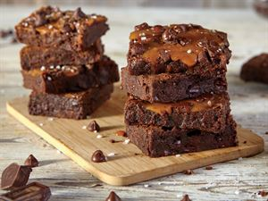 Double Chocolate & Salted Caramel Brownies