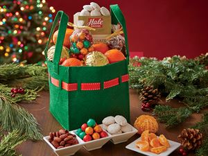 Hostess Tote Bag with Holiday Golds