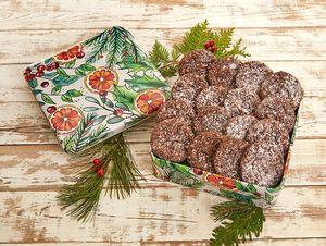 Chocolate Nut Cookies - Holiday Citrus tin