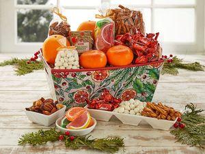 Corporate Holiday Citrus Snacks Basket