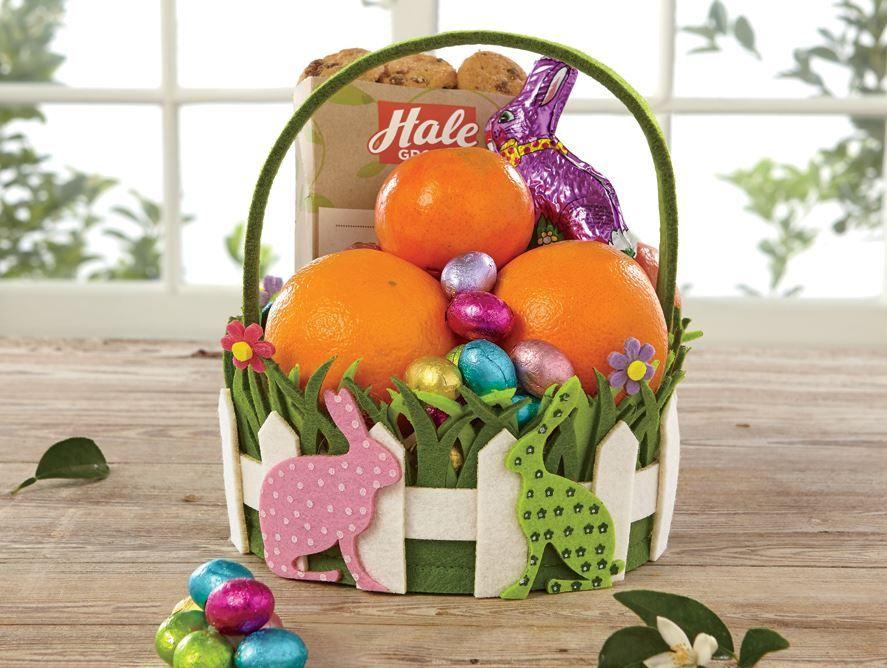 Polka Dot Bunnies Easter Basket