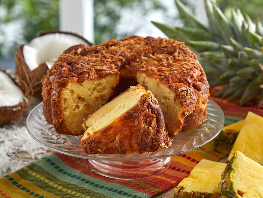 Pineapple Coconut Coffee Cake