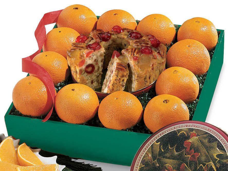 Fruit Cake Assortment with Navel Oranges - Hale Groves - Fruit Baskets