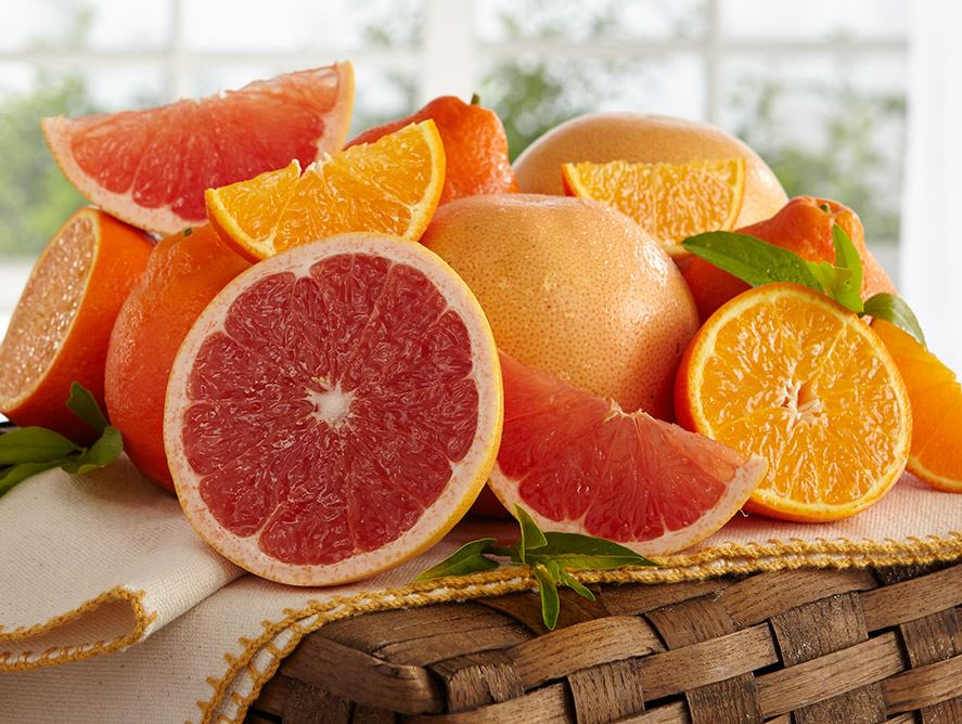 Honeybells and Ruby Red Grapefruit