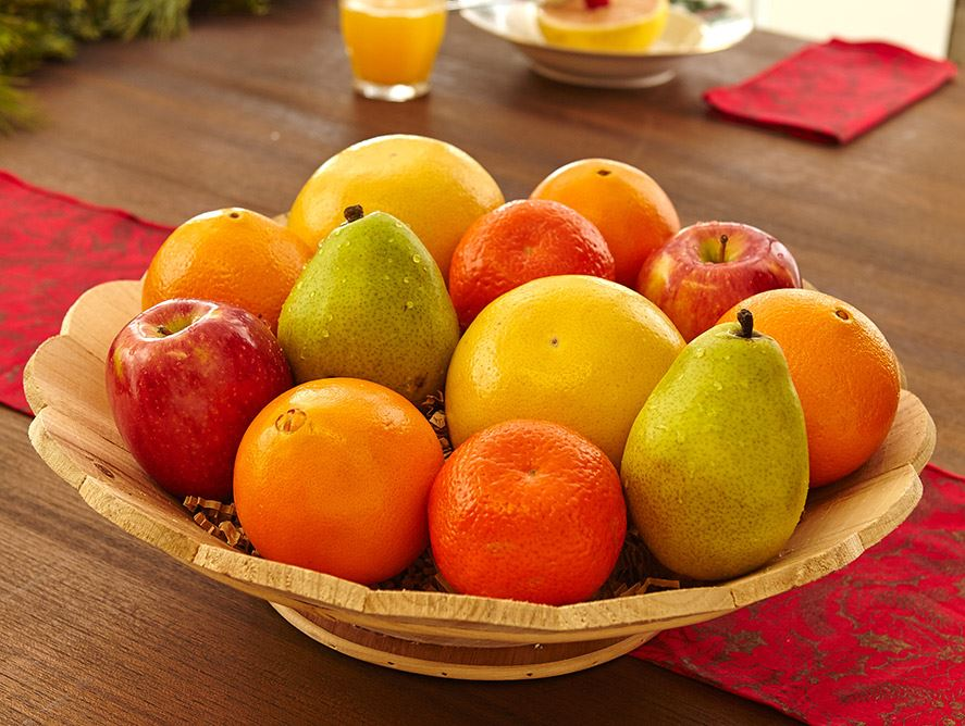 Wooden Fruit Bowl Monthly Fruit Club